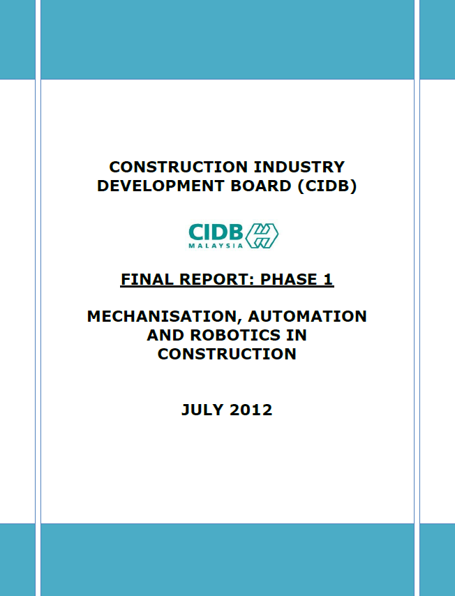 5. Final Report Mechanisation (Phase 1)